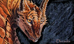 Sun Stained Dragon by Decadia