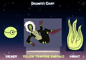 Dolomite's Court app: Yellow Trapiche Emerald by ProtanaArchives94