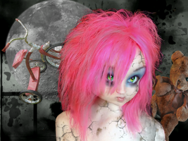 Pink Doll 1 by Tellaine