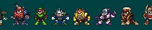 Stardroids in Wily Wars style by DanmanX5792