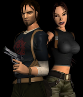 Lara Croft e Kurtis Trent by Pedro-Croft