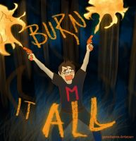 Markiplier Fanart: BURN THEM ALL by garnetbarren