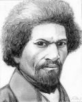 Drawing of Frederick Douglass by ArtmasterRich