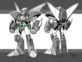 Super Robot Example by weremole