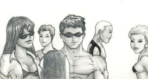 Young Justice at the Beach by justchrishere