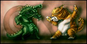 dragon vs tiger by shoze