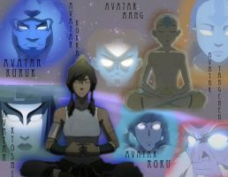 The 6 past avatars by waterbending-gal23