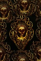 Gold Angel background by rustymermaid-stock