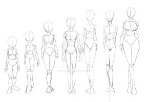 different types of skinny wome by lucio-ashihara