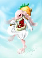 BunnyGirl Painting by zelas