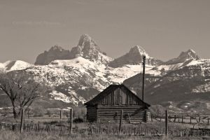 Teton Shed BW by melly4260