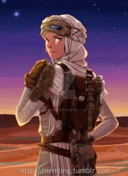 Rey in scavenger style by nemling