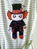 Kawaii Mad Hatter tee by PandoraLuv