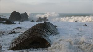 Rough Sea Bude by sags
