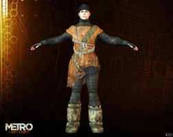 ANNA [ METRO LAST LIGHT ] by Goreface13