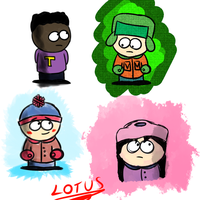 South Park doodles by LotusTheKat