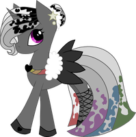 Grey Rainbow OC for Black-Rose-Emy by Charelzzz