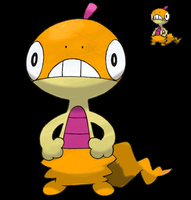 Pokemon 5G Shiny Scraggy by etherspear