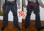 My home made MJ BAD pants for My Thriller jacket. by conkeronine