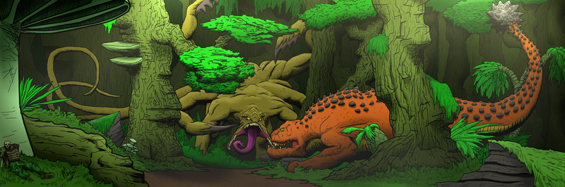A Clash of Giants in The Deep Jungle by A3DNazRigar