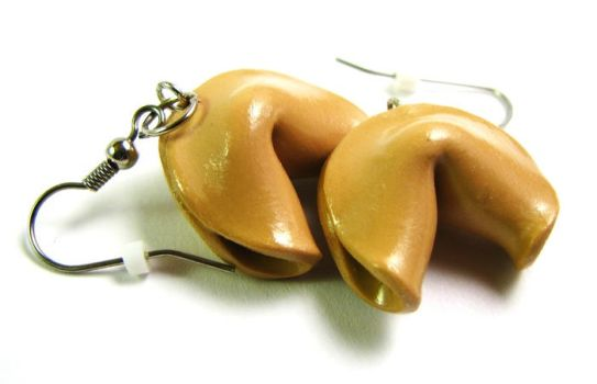 Fortune cookie earrings by SarahRose