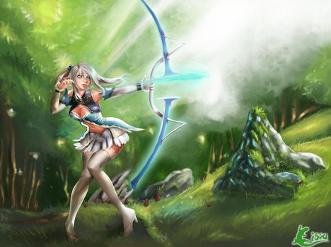 [SHINING BLADE] Altina - Fan Art by Cisou