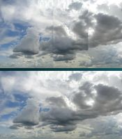 Clouds manipulation before after by artaquilus