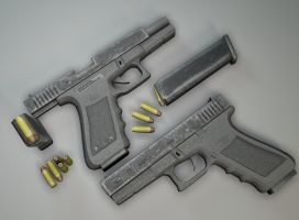 Glocks 17s, Magazines and Bullets by unknownguyver81