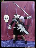 Crona and Ragnarok Dark harlequin by khryztal-dark