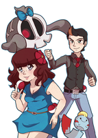 Still Battling: Trainers Michie and Pete! by michielynn