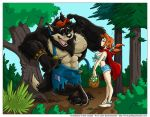 Wolf and Red by cooner