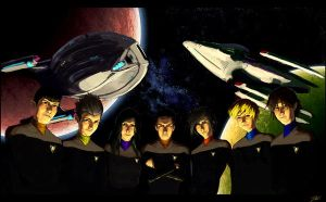 Star Trek Group by DavidRapozaArt
