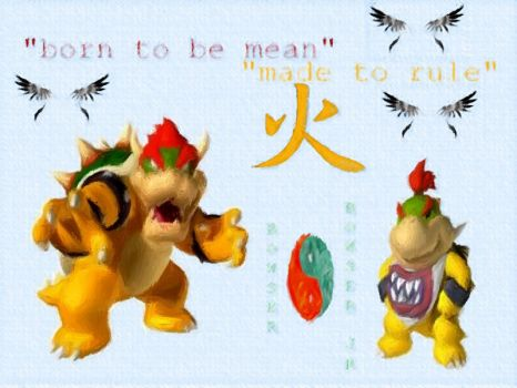 bowser and jr by disneylouis
