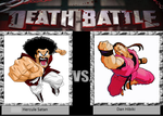DEATH BATTLE Hercule Satan vs. Dan Hibiki by PRS3245