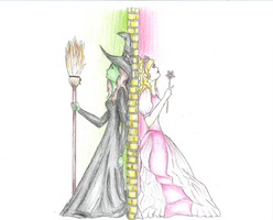 Elphaba and Glinda - Wicked by thestoryweaver