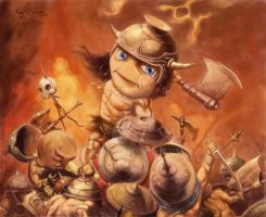 Chibi Conan the Destroyer by artildawn