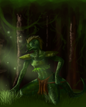 Daenek the Argonian. by Chesarei