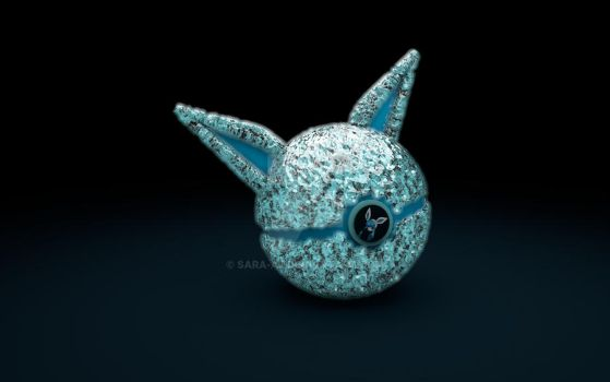 Glaceon pokeball by Sara-A2