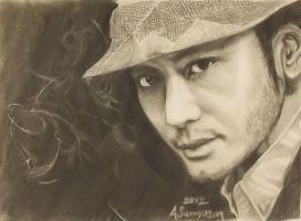 Huang Xiaoming by Anita-Sanderson