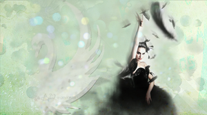 Black Swan wallpaper by IdaBlack
