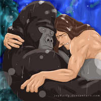 Kerchak's death by JeyHaily