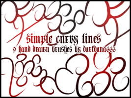 Curve brushes by darkdana666