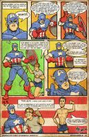 Captain America Vs. The New Fit Test-Mike Shampine by mikeshampine