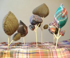 Tartan Trees by philippajudith