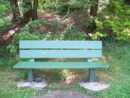 Green Bench Stock by WKJ-Stock