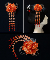 Shades of Orange Elegance 149 by japanesesilkflowers