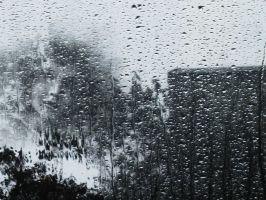 Face in the rain by rustymermaid