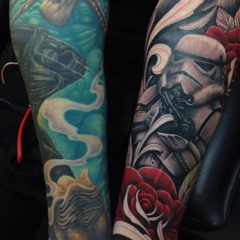 Star Wars and Alien tattoo sleeves by Craig Holmes by CraigHolmesTattoo