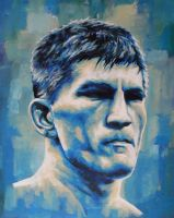 Ricky Hatton Blue Painting by JonMckenzie