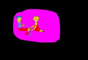 Lisa and Millhouse Tickle by marktmcc